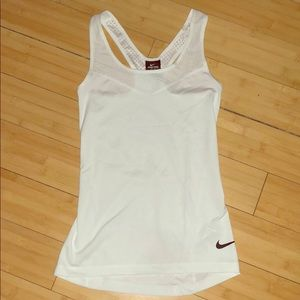 Nike pro dry fit white tank